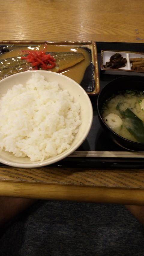 信州の鯖味噌。