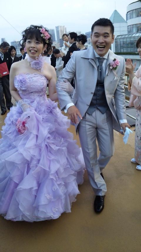 今日の結婚式は☆