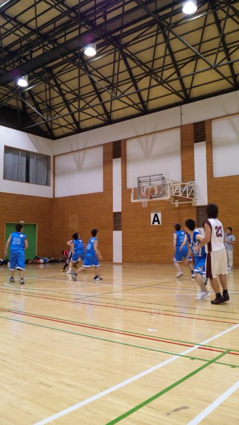 バスケの試合。