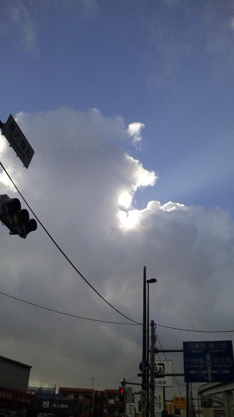 今日の天気。
